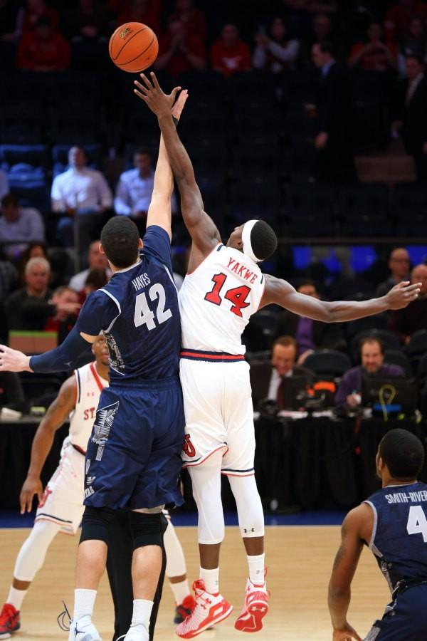 St. John's shot just 39 percent from the field and clearly missed the post presence of Yankuba Sima in the loss to Georgetown (Photo: St. John's Athletic Communications)