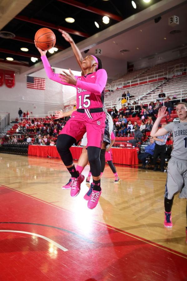 Danaejah Grant topped 20 points for the fourth consecutive game (Photo: St. John's Athletic Communications)