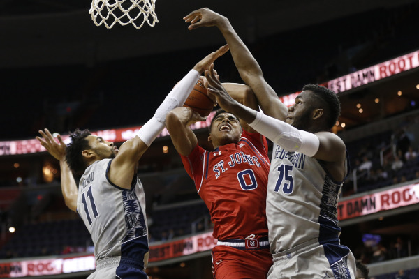 Malik Ellison had 9 points and 3 assists as St. John's lost to rival Georgetown again (Photo: Geoff Burke-USA TODAY Sports)