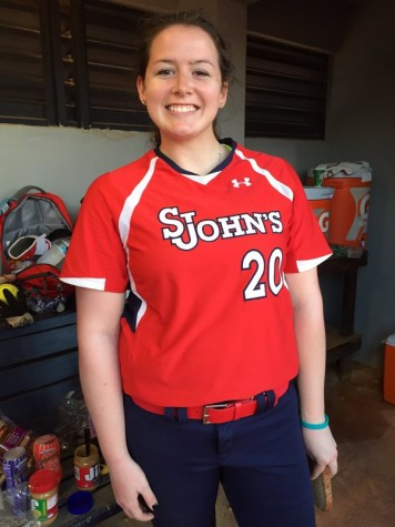 Freshman Madison Morris made her mark in her collegiate debut, tossing a no-hitter in a 12-0 St. John's victory Saturday (Photo: Twitter @StJohnsSoftball)