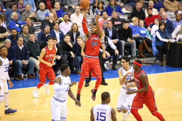 St. John's lost their 11th consecutive game in a loss to cross-river rival Seton Hall (Photo: St. John's Athletic Communications)