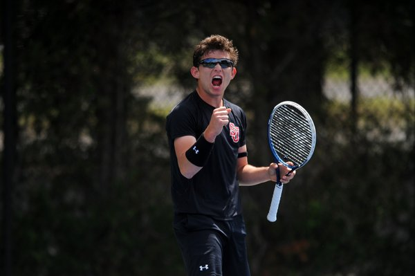St. John's men's tennis team picked up one of its biggest wins in program history (Photo: Twitter/@StJohnsTennis