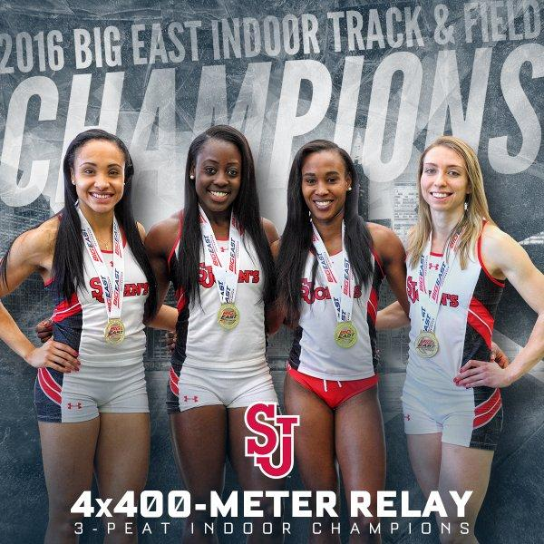 In addition to the 4X400-meter relay team winning their third straight indoor title, the St. John's Track program finished 2nd overall at the Big East Indoor Championship