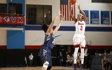 A dominant Aliyyah Handford (game-high 22 points) led St. John's past Georgetown in the 1st round of the Big East Tournament (Photo: St. John's Athletic Communications)