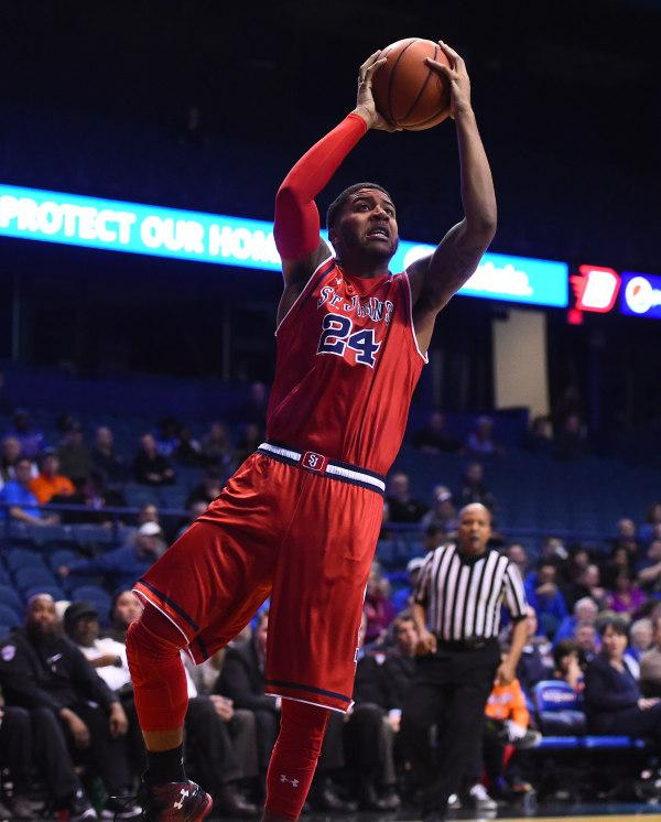 Ron Mvouika attempts a shot against DePaul (Photo: Mike DiNovo-USA TODAY Sports)