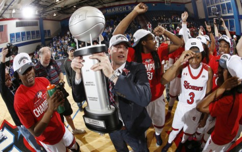 St. John's captured its fourth BIG EAST Tournament title on March 8, downing Creighton 50-37 at McGrath-Phillips Arena in Chicago. (Photo: St. John's Athletic Communications)