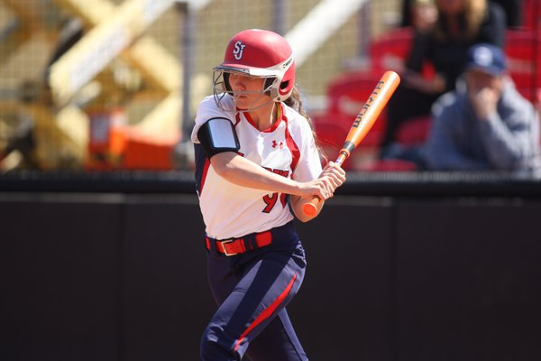 LF Lauren Zick was named to the Big East Weekly Honor Roll after hitting .500 with two steals last week (Photo: Twitter/@StJohnsSoftball)