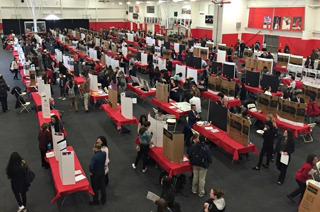 Approximately 200 poster presentations filled the Taffner Field House on Thursday, April 7 in celebration of Research Month.