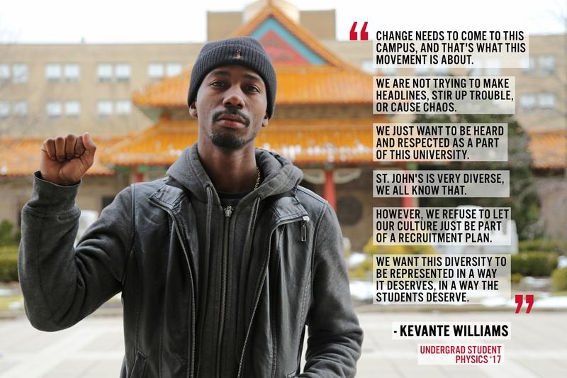 Junior Kevante Williams explains why he supports the student-led movement.