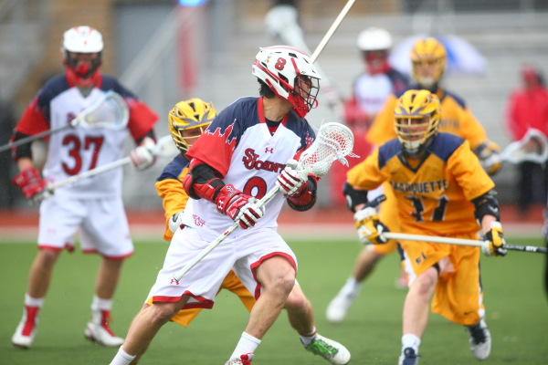 Eric DeJohn led the Red Storm with five goals, however his effort was not enough to keep St. John's in the game. (Photo Credit: St. John's/Athletic Communications).