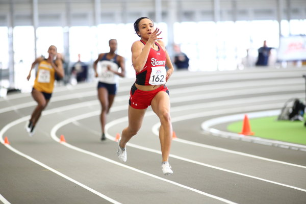 Pariis Garcia recorded two personal best's on the day. (Photo: St. John's/Athletic Communications).