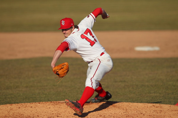 Thomas Hackimer shut the door in the two Red Storm wins. (Photo: St. John's/Athletic Communications).