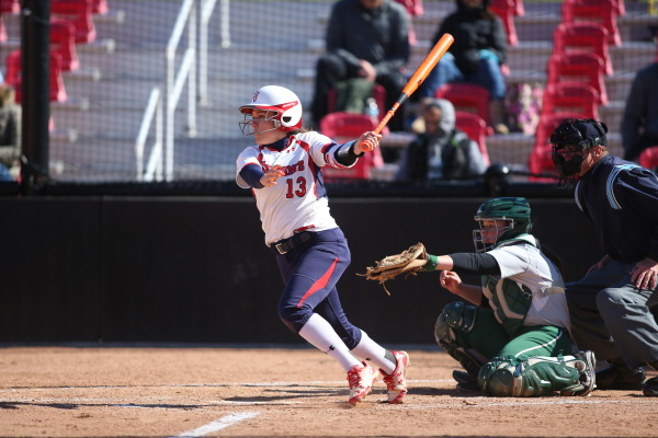 Krystal Puga's homer gave St. John's an extra-innings lead on April 23. (Photo: St. John's/Athletic Communications).