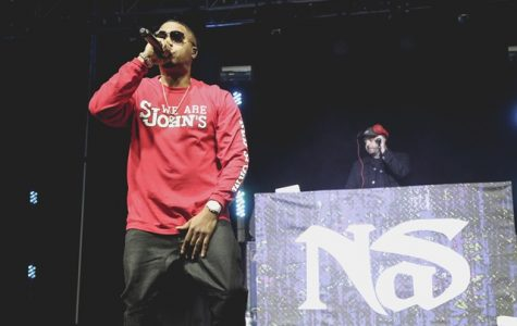 Nas, influential rapper from Queens, performs at this year's Spring Concert.