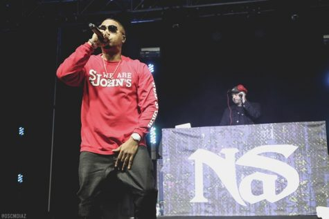 Nas performs his classics at this year's Spring Concert