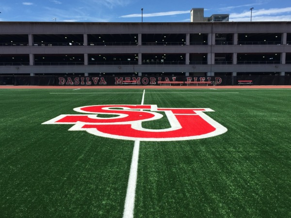 LandTek installed Multi40 turf on DaSilva Memorial Field this summer. (Photo Credit: Redstormsports.com)
