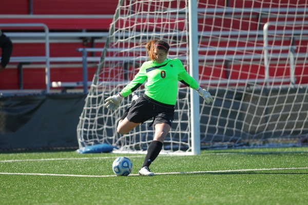Goalkeeper Diana Poulin has been stellar in goal for the Red Storm this season. (Photo Credit: RedStormSports.com)