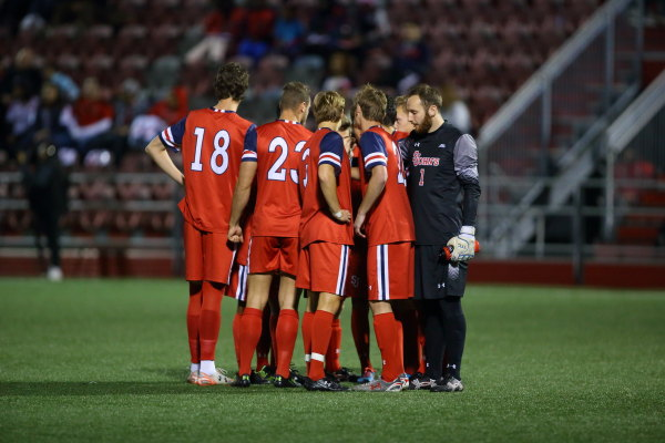 Men's soccer picked up a huge win over nationally-ranked Butler over the weekend. (Photo Credit: RedStormSports.com).
