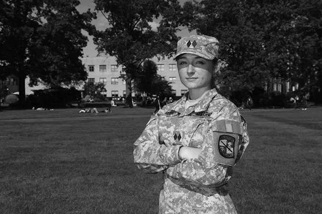 Senior Elena Rudy is a biology major and ROTC member.