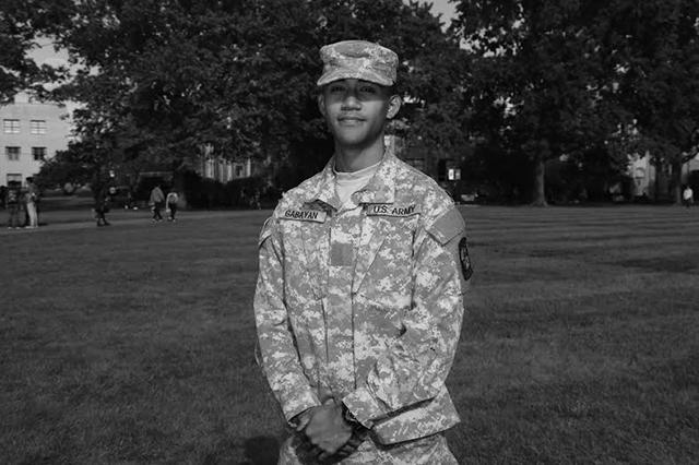 Junior and ROTC member Christopher Gabayan.