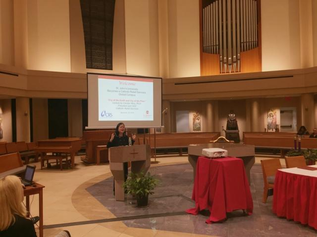 Carolyn Woo, Ph.D. came to speak to the St. John's community on Nov. 28.