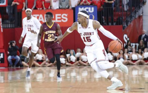 Marcus LoVett played exceptional in his debut for the Red Storm. (Photo Credit: RedStormSports.com)