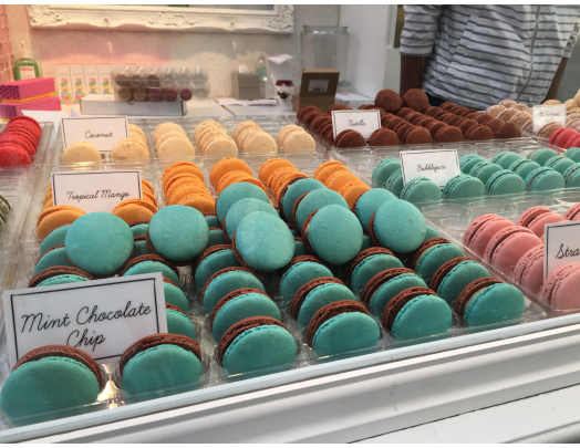 Macarons at Winter Village in Bryant Park