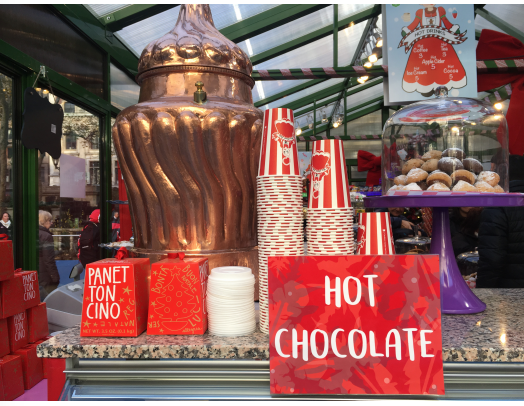 The hot chocolate at Bryant Park's Winter Village