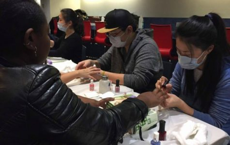 Students participate in Finals Stress Reliever event at Montgoris Dining Hall on Wednesday, Dec. 7.