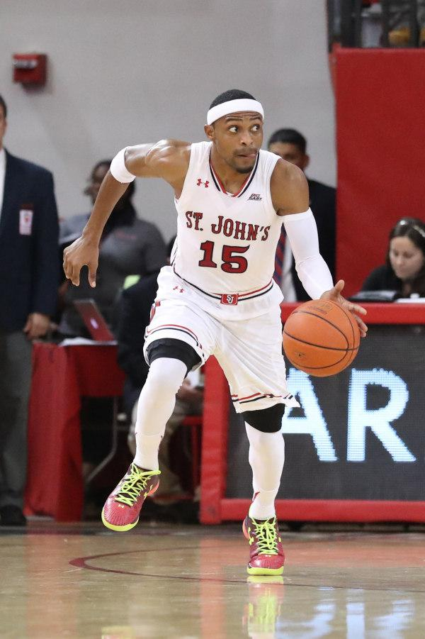 Marcus LoVett scored 13 points for St. John's in a losing effort. (Photo Credit: RedStormSports.com).