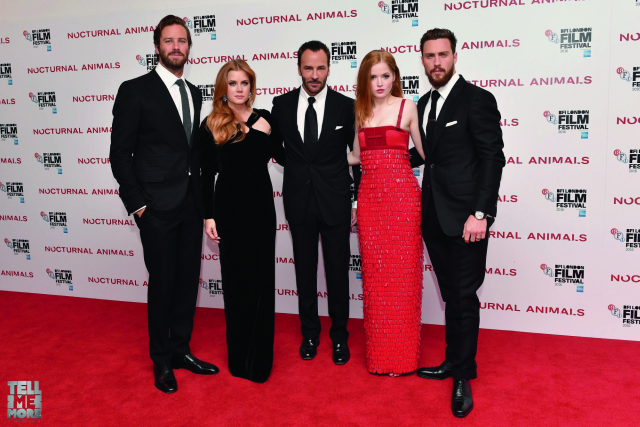 Armie Hammer, Amy Adams, Tom Ford, Isla Fisher and Aaron Taylor-Johnson at the premiere of