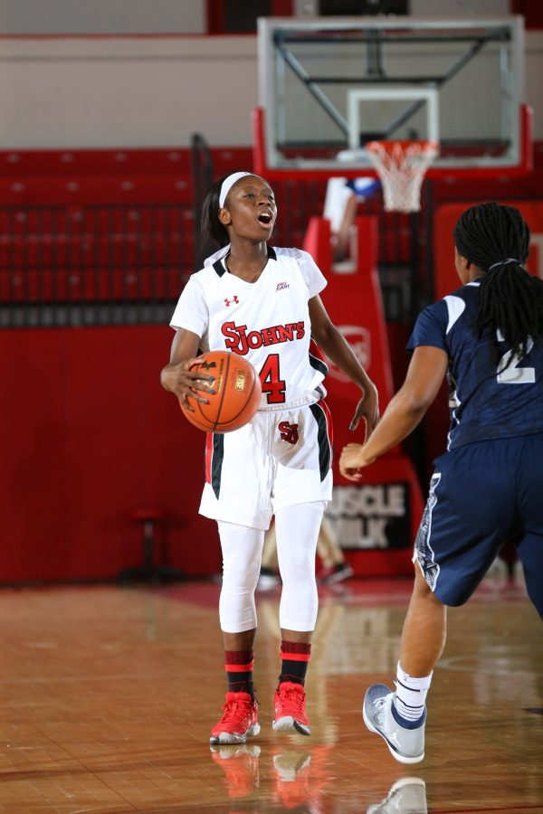 Aaliyah Lewis led the Red Storm in scoring in their win over Providence. (Photo Credit: RedStormSports.com)