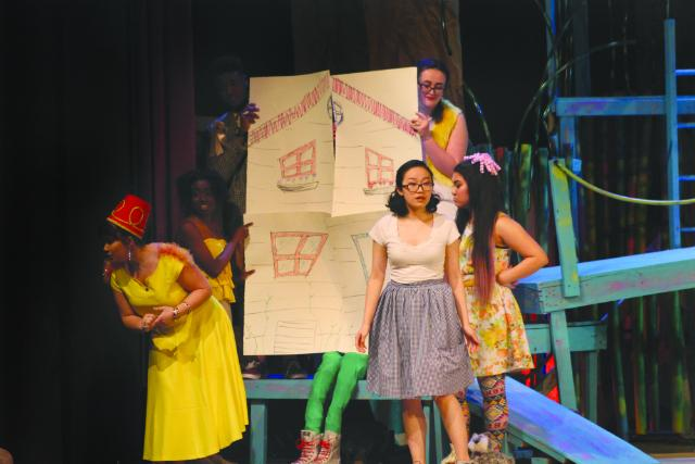 Student performers on stage at the Little Theater for Chappel Players'