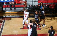 Aaliyah Lewis had a game-high 16 points in the Red Storm's Second Round win. (RedStormSports.com)