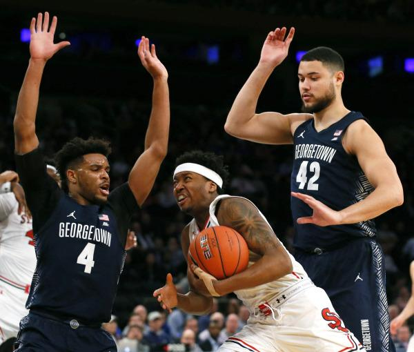 A physical contest between the two Big East rivals came down to the final shot. (Photo Credit: RedStormSports.com)