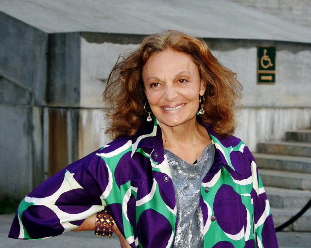 Diane von Furstenberg, legendary philanthropist and fashion designer.
