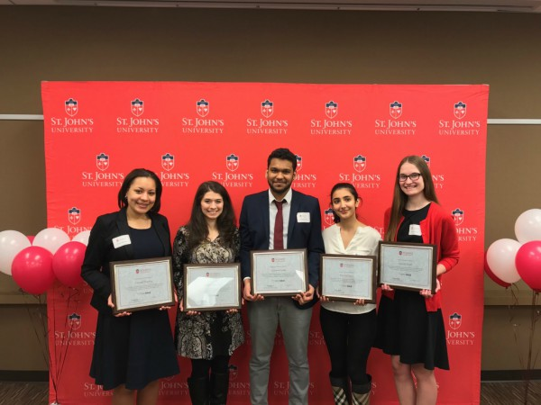 Left to right: Carmela Hopkins, Stephanie Bonanno, Surendra Gobin, Preetice Pooni and Anarita Lynch accepted their awards at the Thursday luncheon.