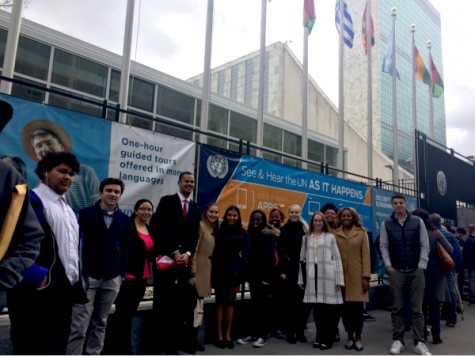 SJU students recently visited the United Nations.