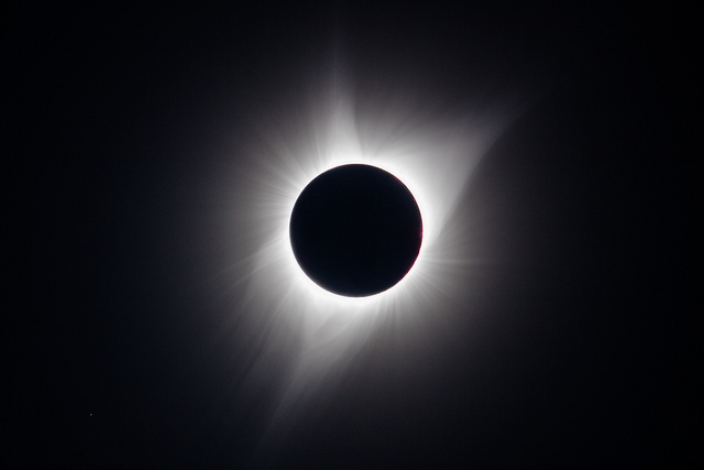 Solar eclipse over Craters of the Moon National Monument & Preserve NPS in Idaho.