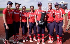 After a run to the conference finals last year, the Red Storm softball team uses their fall schedule to gear up for another long spring (Photo Courtesy/Athletic Communications).