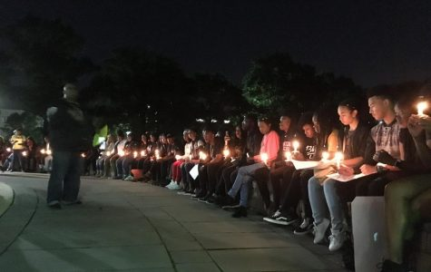 Students lit candles to remember the victims of police brutality, white supremacy and gun violence.