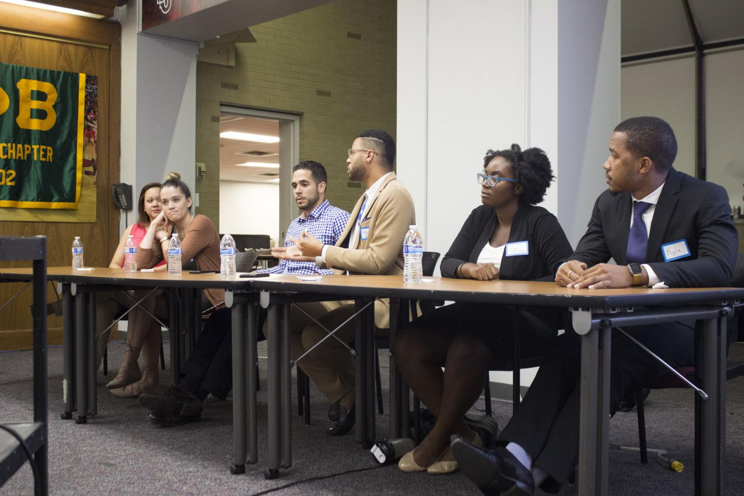 Panelists speak at the Mothers of Color event.