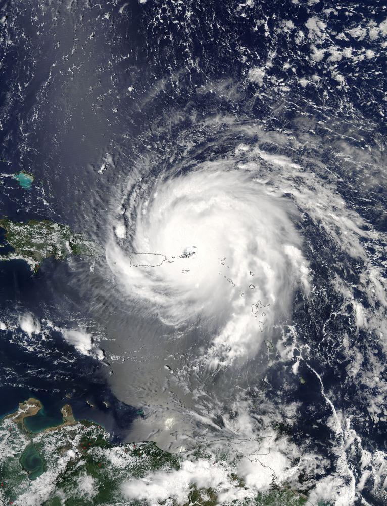 Irma Hurricane over the Carribean, NASA