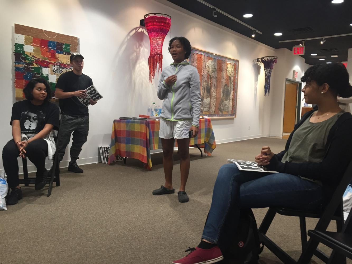 Niemah Brown recites her poetry.