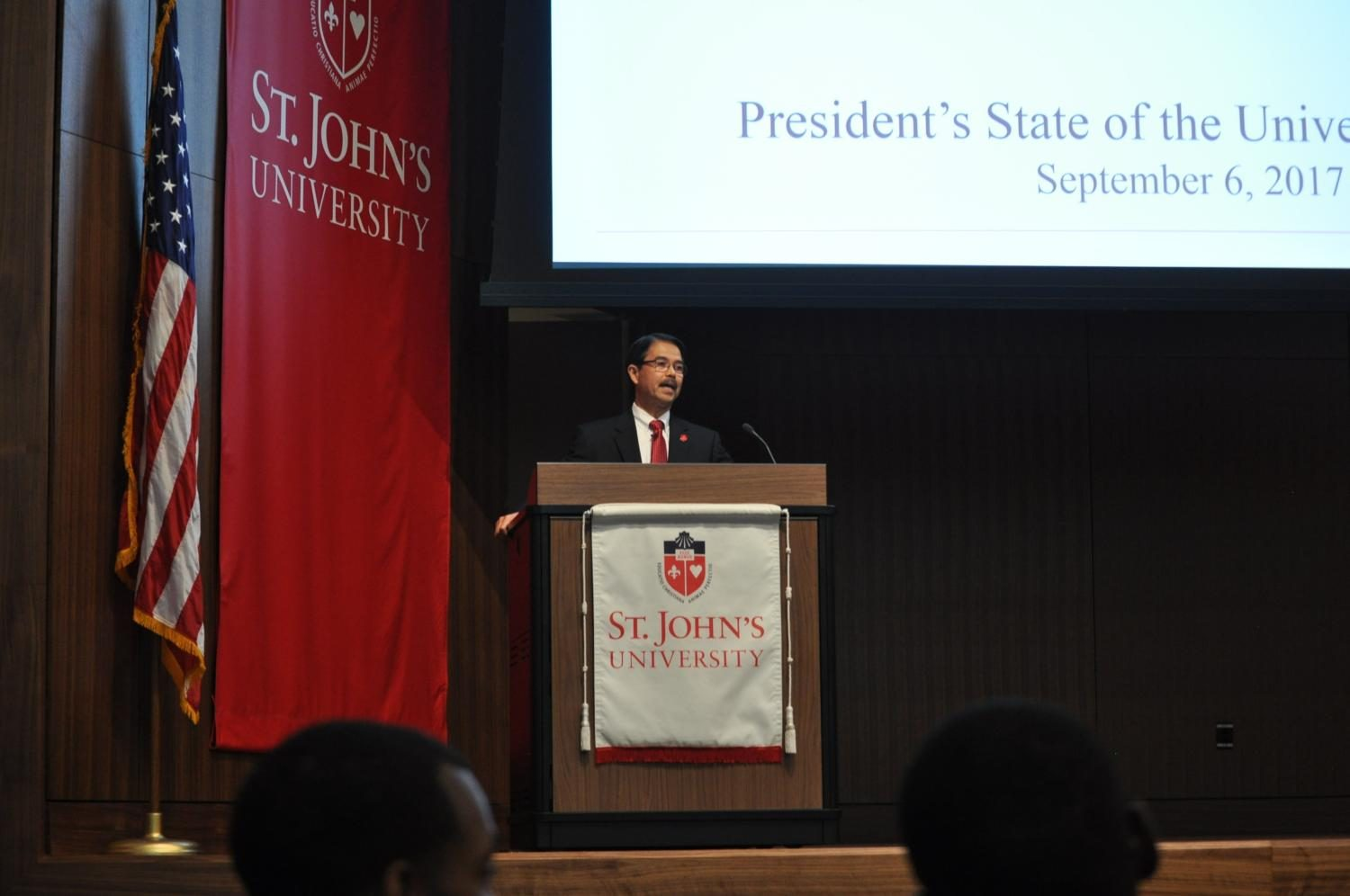 President+Gempesaw+delivered+his+annual+address+Sept.+6+in+Marillac+Auditorium.