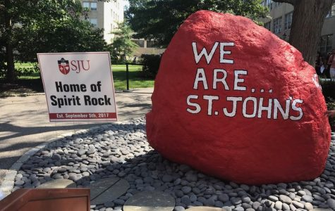 The University unveiled the Spirit Rock in September.