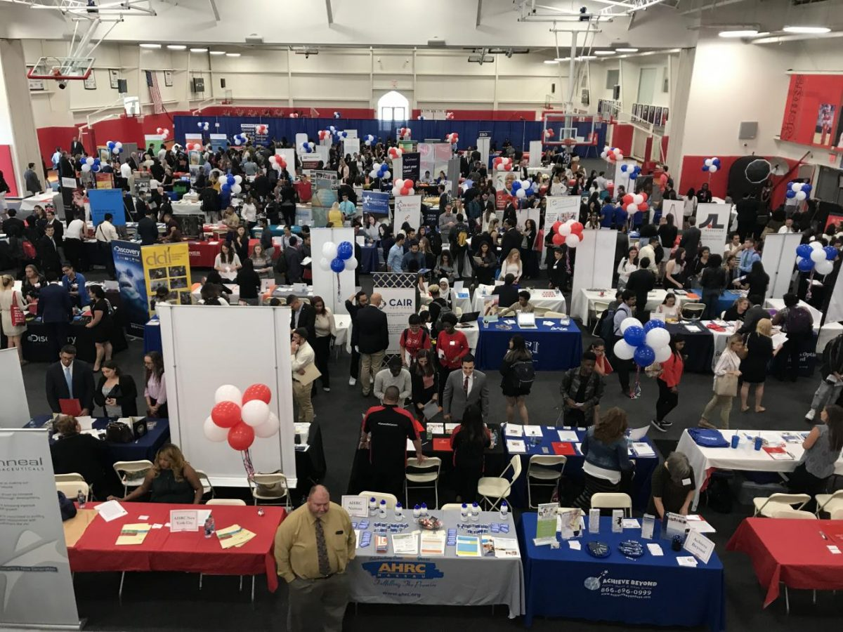 The annual Career Fair gives students the chance to talk to possible future employers.