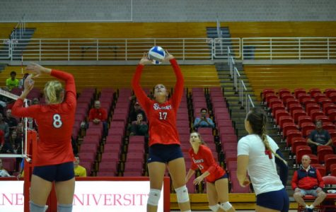 St. John's volletball player Erica Di Maulo reached 2,000 career assists last week (Photo Courtesy/Athletic Communications).