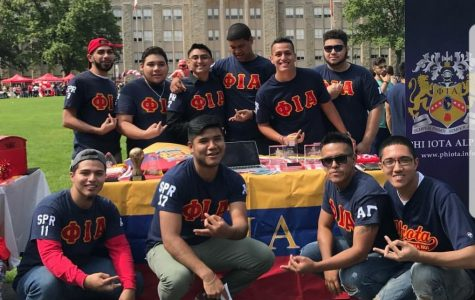 Brothers of the Phi Iota Alpha Fraternity promoted their Passport to Puerto Rico event at the Activities Fair.