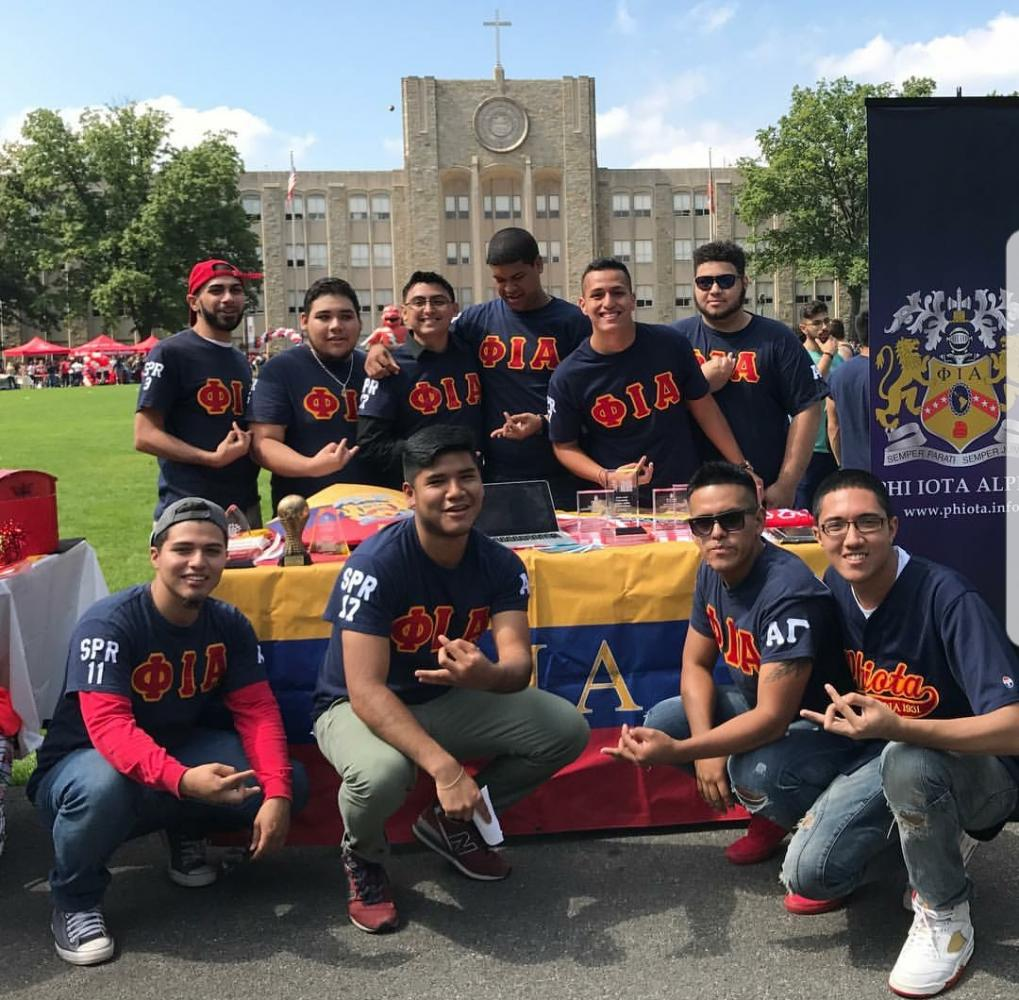 Brothers+of+the+Phi+Iota+Alpha+Fraternity+promoted+their+Passport+to+Puerto+Rico+event+at+the+Activities+Fair.